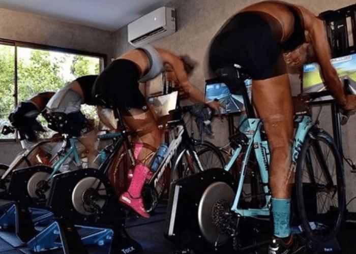 Que la cuarentena no te detenga, conoce la playlist para entrenar y disfrutar pedaleando en el rodillo con Las Reinas del Pedal.