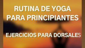 rutina de yoga para principiantes ejercicios para dorsales
